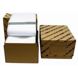 """Tabelační papír 25 x 6"""" (1+2) 500 listů, MZDOVÁ OBÁLKA boční perforace NCR"""