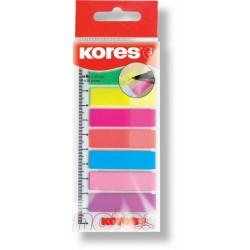 Kores Záložky Index Strips na pravítku 12x45/8 barev na pravítku