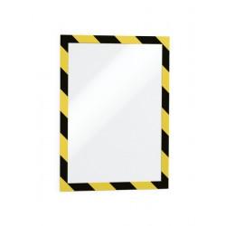 Durable 4944 samolepící rámeček žlutý/černý, DURAFRAME SECURITY, 2ks