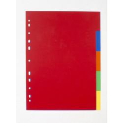 Rozřaďovač A4 PP,  5 barev