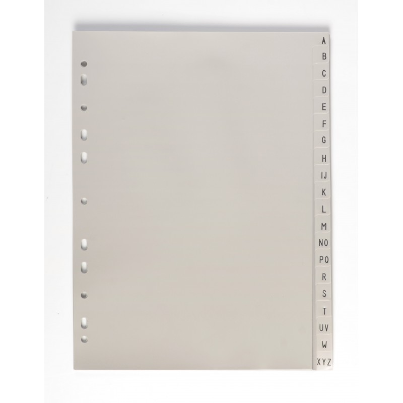 Rozřaďovač A4 PP šedý A-Z, abecední