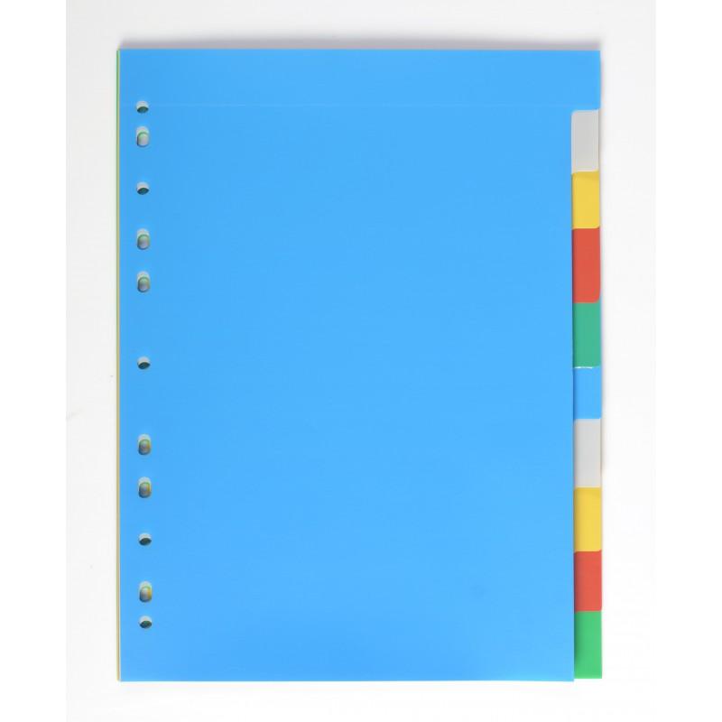 Rozřaďovač A4 PP barevný, 2x5 barev