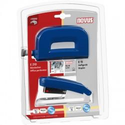 Sada NOVUS E15/E210 na blistru, set děrovačky a sešívačky