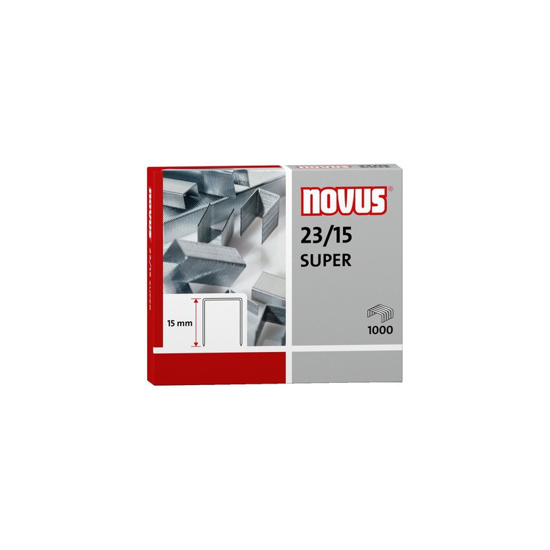 Novus Spony do blokové sešívačky 23/15 Super, 1000ks