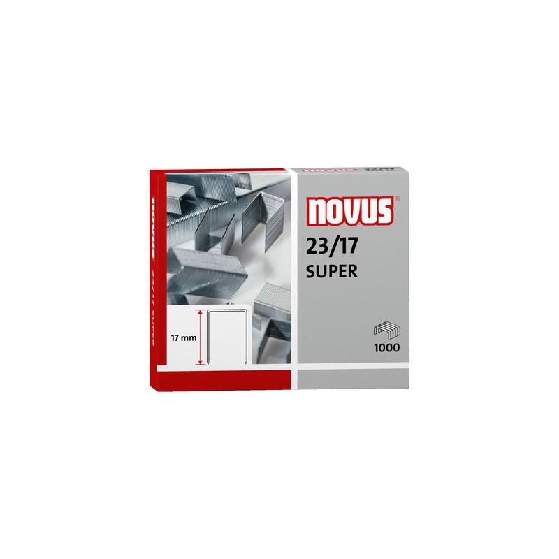 Novus Spony do blokové sešívačky 23/17 Super, 1000ks