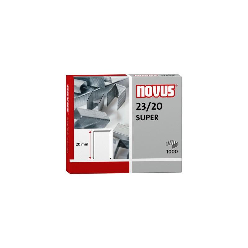 Novus Spony do blokové sešívačky 23/20 Super, 1000ks