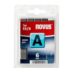 Spony NOVUS 53/6 do řemeslnických sponkovačů 2000 ks