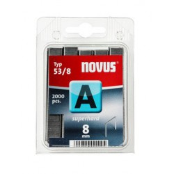 Spony do řemeslnických sponkovačů NOVUS 53/8 Super Hard, 2000 ks