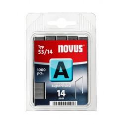 Spony do řemeslnických sponkovačů NOVUS 53/14 Super Hard, 1000 ks