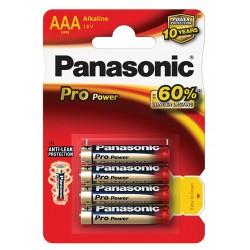 Panasonic Baterie mikrotužkové AAA, LR03PPG Pro power, 4ks
