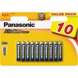 Panasonic Alkaline Power Baterie mikrotužkové AAA, LR03, blistr 10ks