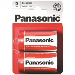 Panasonic Red Zinc Baterie monočlánek R20RZ, blistr 2ks