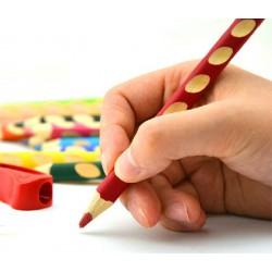 Stabilo EASY colors 12 R, silné pastelky pro praváky s ořezávátkem