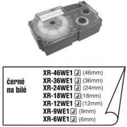 Casio XR-9WE1, páska do tiskárny štítků 9 mm černý tisk, bílý podklad