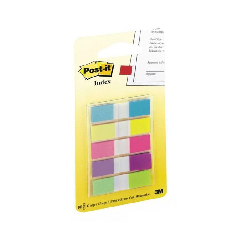 Post-it® záložky 683 malý formát, 11,9x43,1 mm, 5x20 záložek