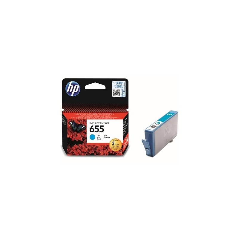 Inkoustová cartridge HP 655 cyan azurová, CZ110AE