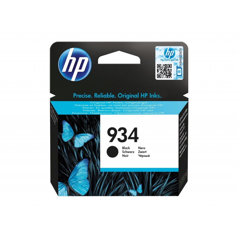 Inkoustová cartridge HP 934 black černá, C2P19AE
