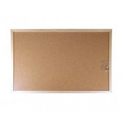 Korková nástěnka 90x120 cm, dřevěný rám