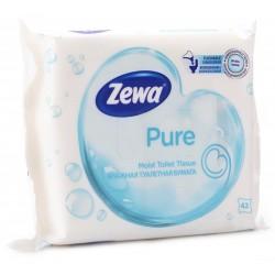 ZEWA Pure, vlhčený toaletní papír bílý, 42 ubrousků