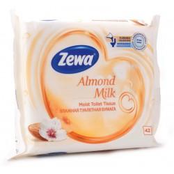 ZEWA Almond Milk, vlhčený toaletní papír bílý, 42 ubrousků