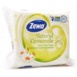 ZEWA Natural Camomile, vlhčený toaletní papír bílý, 42 ubrousků