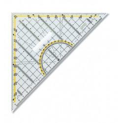 KOH-I-NOOR trojúhelník 45/177 s úhloměrem, kouřový