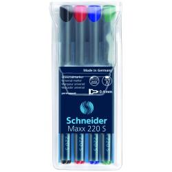 Schneider Maxx 240, popisovač permanentní kulatý hrot, stopa 1-2 mm