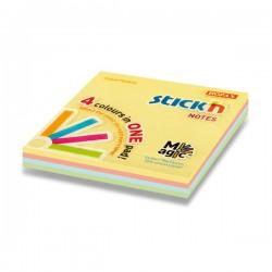Hopax samolepící bločky Magic, rozměr 76x76 mm, mix 4 pastelových barev, 100 lístků