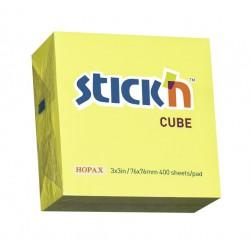 Hopax samolepící bločky Magic Cube, rozměr 101x76 mm, mix 7 neonových barev, 280 lístků