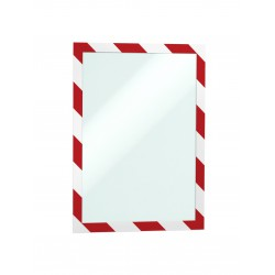 Durable 4944, samolepící rámeček DURAFRAME SECURITY červeno bílý