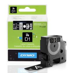 DYMO polyester páska D1 19mm x 7m, černá na průhledné