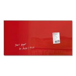 SIGEL GL114, Magnetická skleněná tabule Artverum, červená, rozměr 48x48 cm