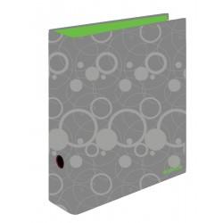Pořadač pákový lamino zelená-růžová, hřbet 70 mm, kolekce DUO COLORI
