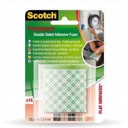 3M Scotch oboustranné lepící pěnové permanentní čtverečky 25,4x25,4 mm, 16 ks