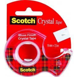 3M Scotch Crystal lepící páska s odvíječem, 19x7,5 m