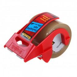 3M Scotch Packaging Tape, lepící balící páska s odvíječem hnědá, 50x20