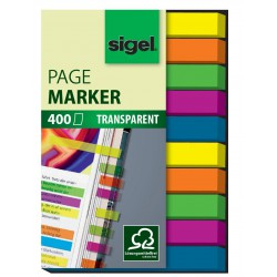Samolepicí záložky Sigel obdelník, 50x20 mm, 5 barev po 40 útržcích, motiv Smile