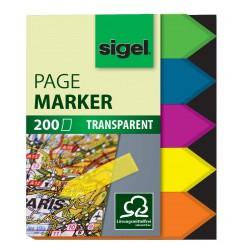 Samolepicí záložky Sigel obdelník, 50x6 mm, 10 barev po 40 útržcích, extra malé proužky