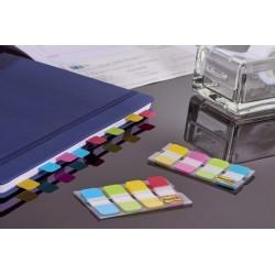 3M Post-it, samolepící záložky extra silný plast, 38x16 mm, 4 barvy po 10 útržcích barevný pruh
