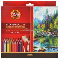 KOH-I-NOOR 3713, souprava pastelek akvarelových Mondeluz, 48 barev