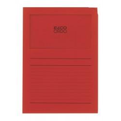 Elco Ordo Classico - zakládací papírové desky s potiskem a oknem, oranžové