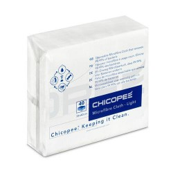 Chicopee Microfibre Light 74736, jednorázová víceúčelová hygienická utěrka, zelená 34x40cm, 40ks v balení