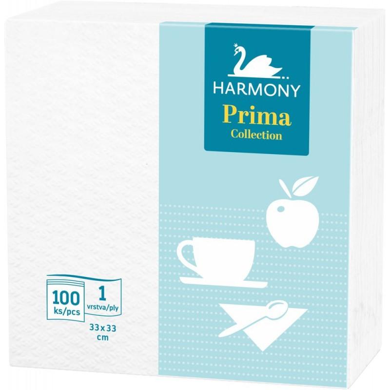 Harmony Prima, papírové ubrousky jednovrstvé, 100 ks