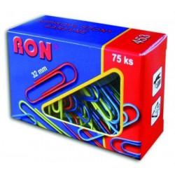 Conmetron kancelářské sponky dopisní barevné 453, oblé 32 mm