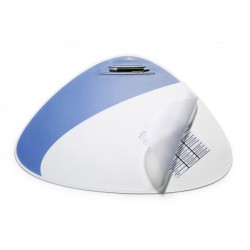 Durable 7208, Podložka na stůl VEGAS stříbrná, oválná