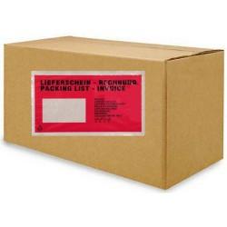 Expediční dokumentní obálka DL červený potisk, transportní obálka na dokumenty