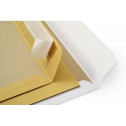 Obchodní taška hnědá B4 s krycí páskou, kartonová zpevňující zadní strana, 100 ks