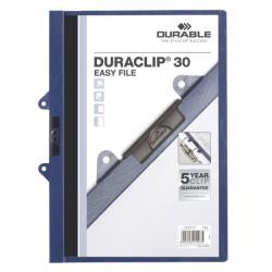 Durable 2229 DURACLIP® 30 EASY FILE, rychlovazač A4 tmavě modrá