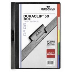 Durable 2213, desky DURACLIP PLUS 30 listů, rychlovazač A4 s výsuvnou sponou, bílá
