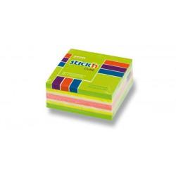 Hopax samolepící kostka Jablko, rozměr 70x70 mm, mix 5 neonových barev, 400 lístků